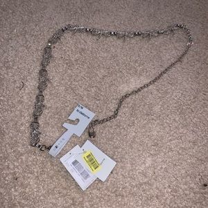 NWT Liz Claiborne Dragonfly Silver Chain Belt